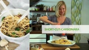 short cut carbonara