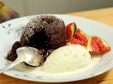 snabb choklad dessert